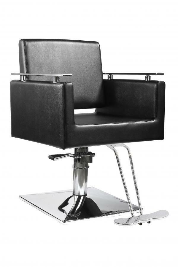 New black modern hydraulic barber chair styling salon for Modern salon furniture packages