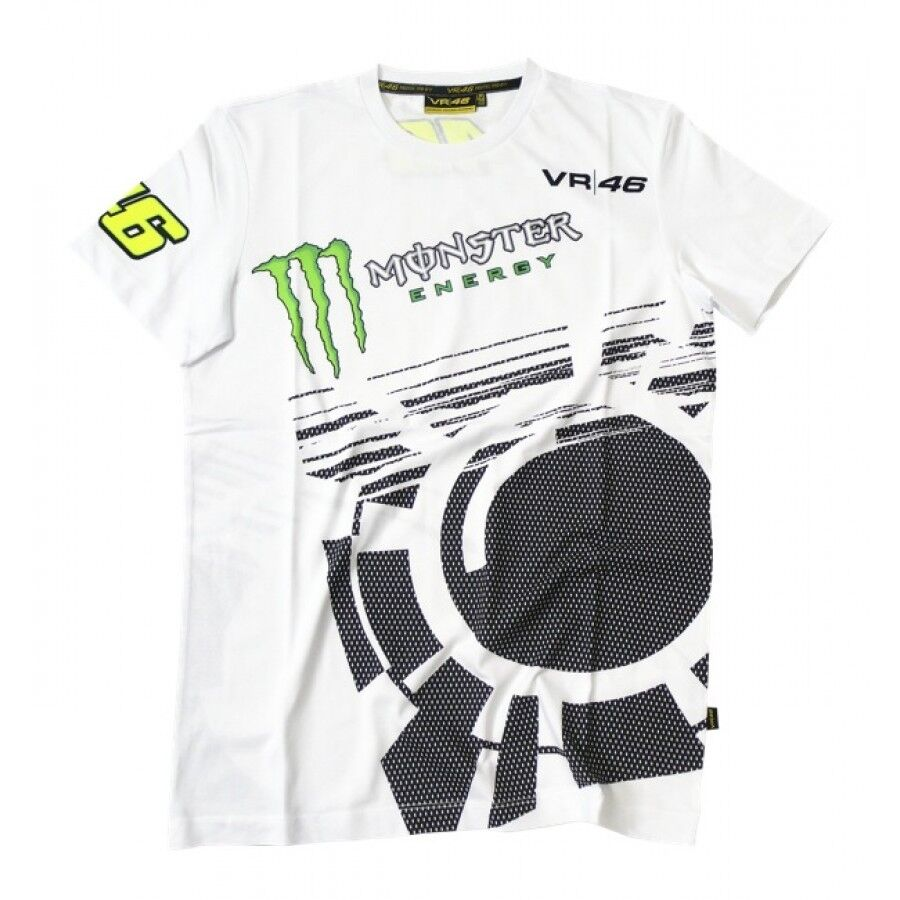 new official valentino rossi vr46 monster white t 39 shirt. Black Bedroom Furniture Sets. Home Design Ideas