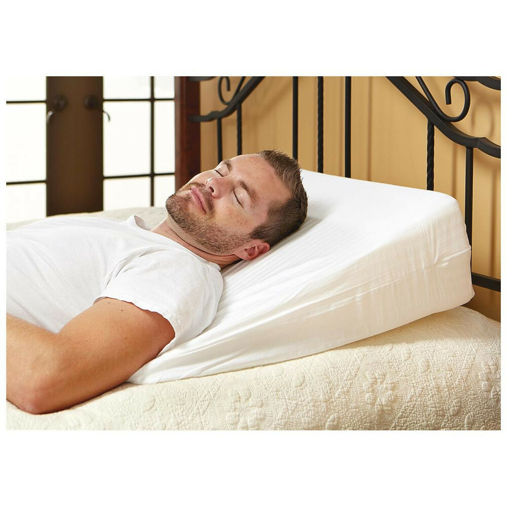 New mds online luxury 12 quot foam bed wedge pillow w soft for Best soft bed pillows