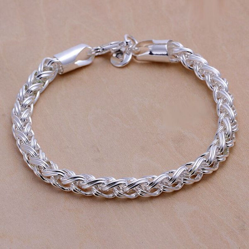 wholesale sterling solid silver fashion chain bangle ...