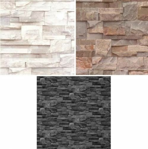Cornish Stone Effect Wallpaper From B Q: NEW LUXURY MURIVA SLATE STONE BRICK WALL EFFECT TEXTURED