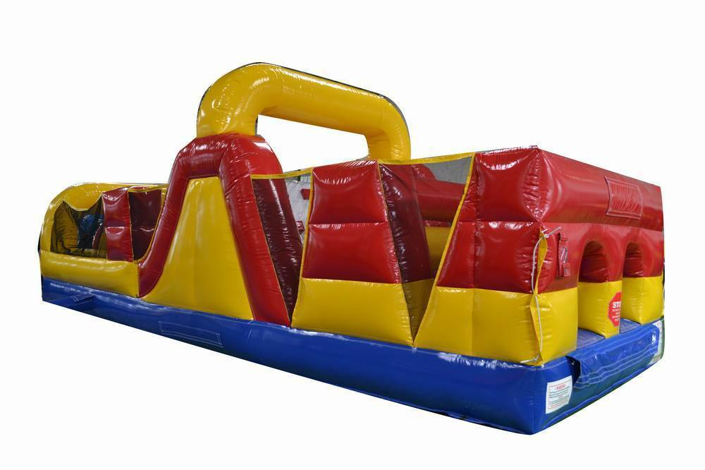 Commercial Inflatable 30' Obstacle Course Slide Rock Wall ...