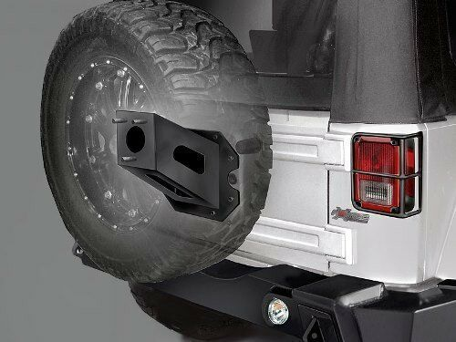 rampage hd rear spare tire extender black for 2007 2016. Black Bedroom Furniture Sets. Home Design Ideas