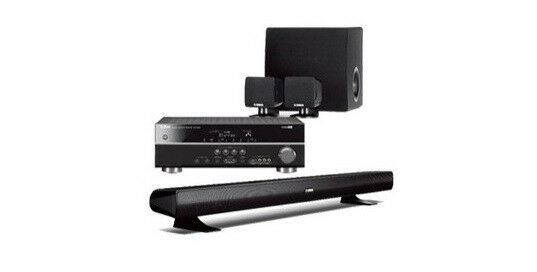 Yamaha yht 494bl 5 1 ch home theater system subwoofer for Best buy yamaha sound bar