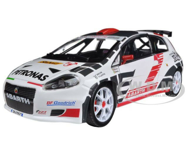 fiat abarth grande punto rally car s2000 1 24 diecast. Black Bedroom Furniture Sets. Home Design Ideas
