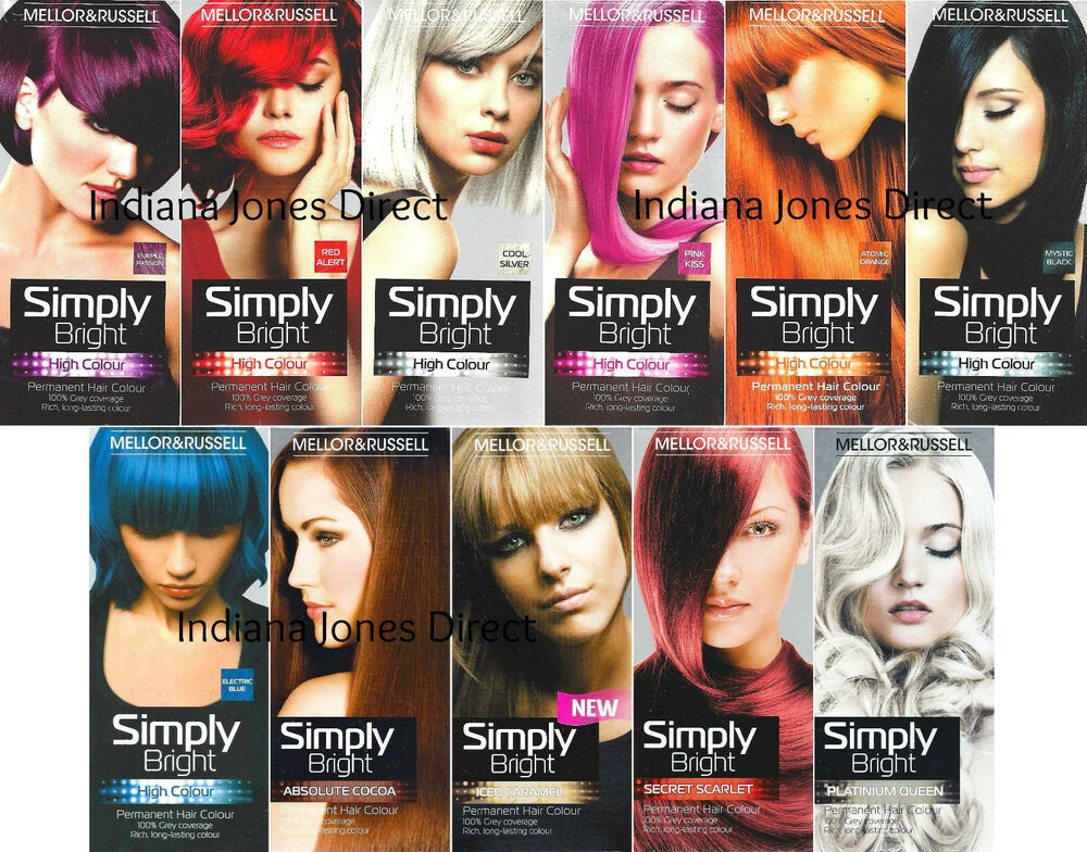Mellor Amp Russell Simply Bright Hair Colour Purple Red