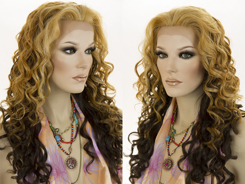 Long Lace Front Wavy Curly Blonde Brunette Red Wigs