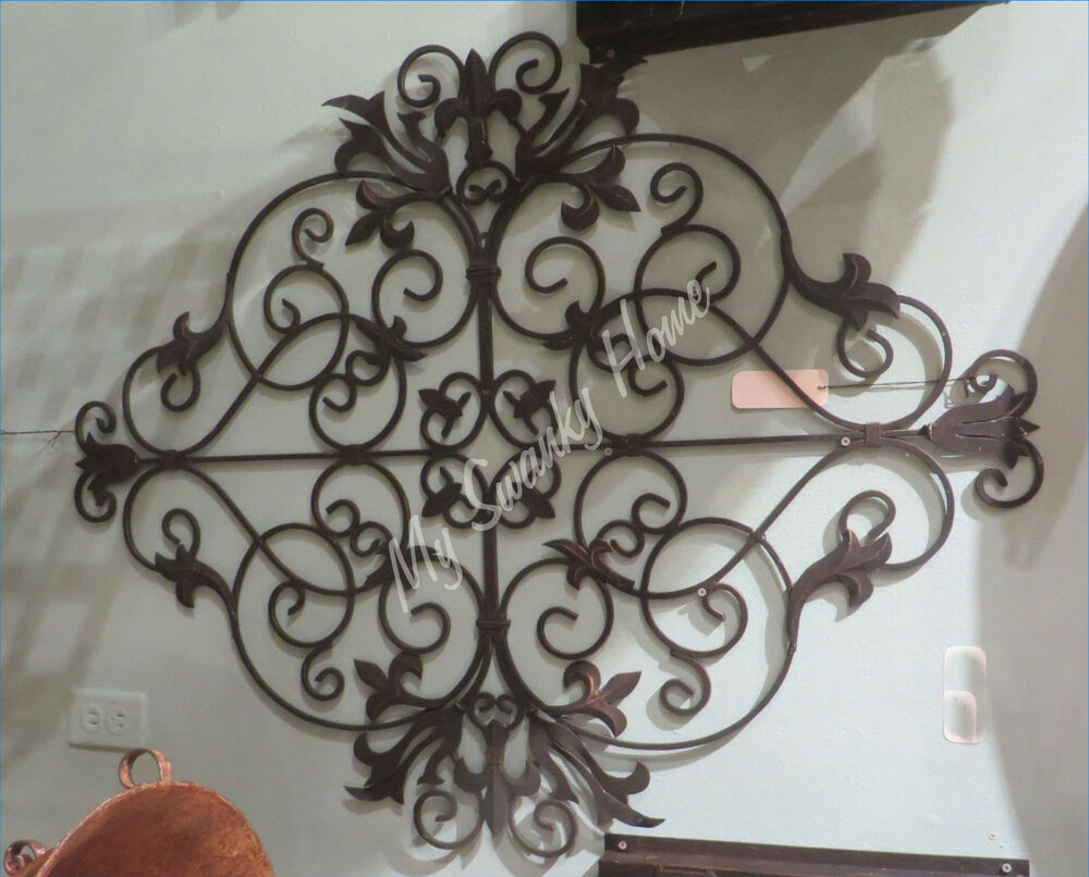Gold Iron Wall Decor : Brown gold metal quot old world iron wall art grille neiman