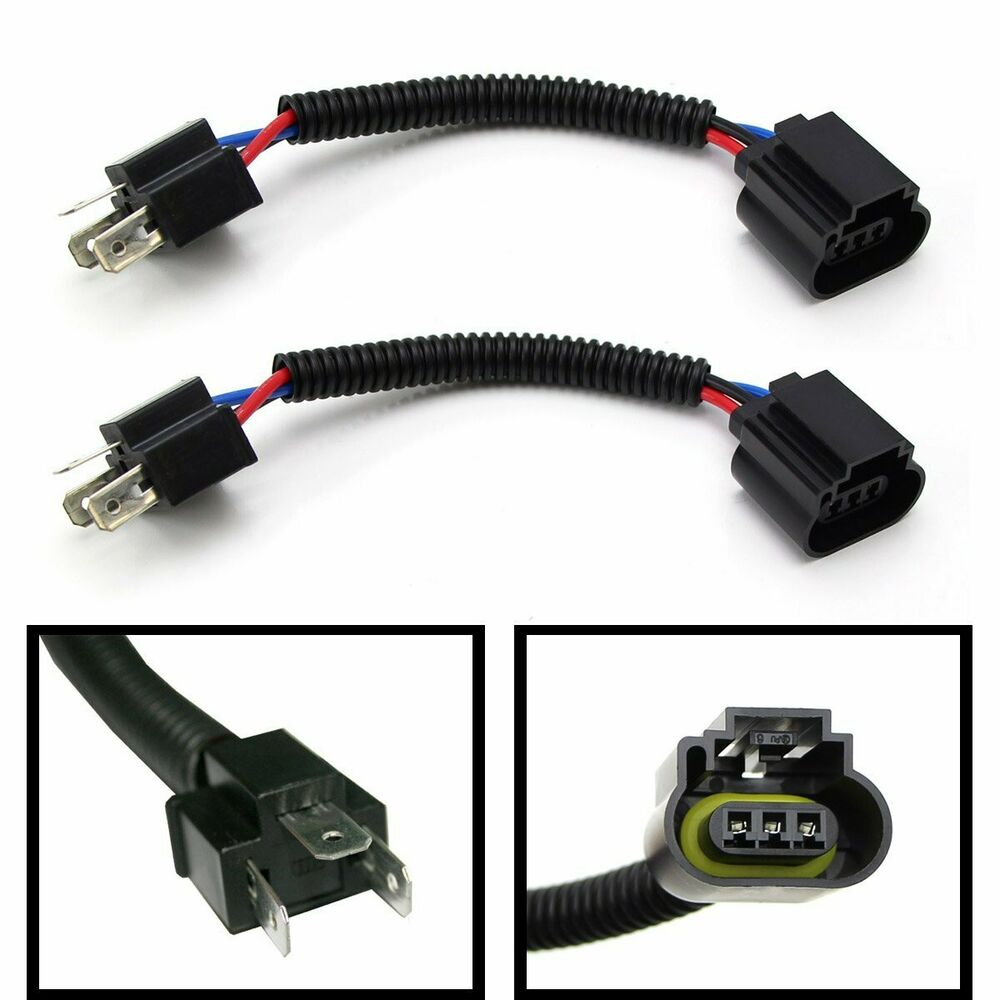 h4 9003 to h13 9008 pigtail headlight conversion harness