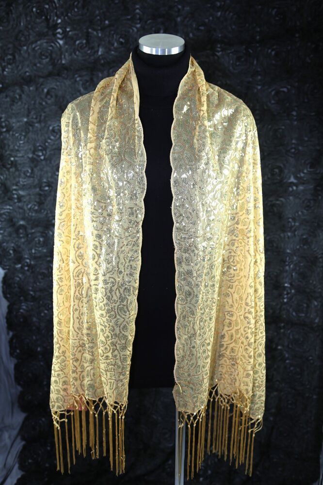 b125 sequin gold metallic with boutique scalloped edge