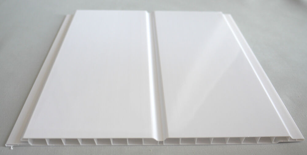 4 Gloss White Twin Wet Wall Panels Pvc Ceiling Kitchen