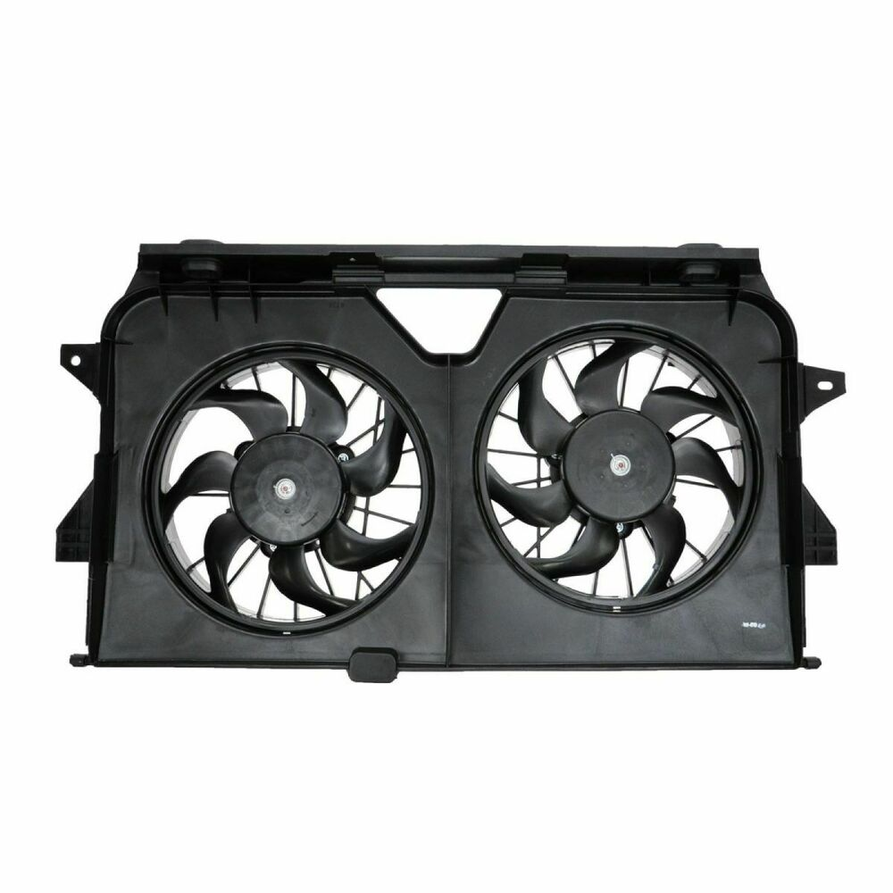 Radiator Cooling Fans : Radiator cooling dual fan assembly for grand caravan t c