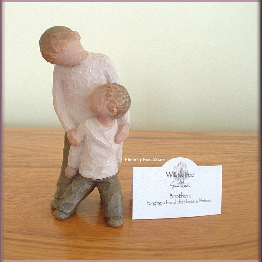 brothers figurine from willow tree angels free u s. Black Bedroom Furniture Sets. Home Design Ideas