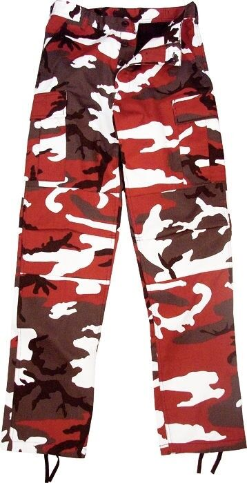 Red Camouflage Military BDU Cargo Bottoms Fatigue Trouser Camo Pants ... 2b7e03bc0