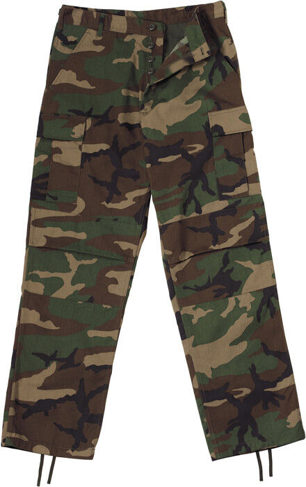 Mens Woodland Camouflage Military BDU Pants Camo Cargo Fatigues Bottoms  Trouser  fe83587d3