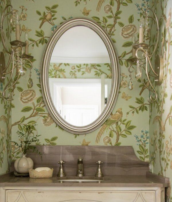 silver oval mirrors bathroom gorgeous silver leaf oval vanity wall mirror bathroom 20364