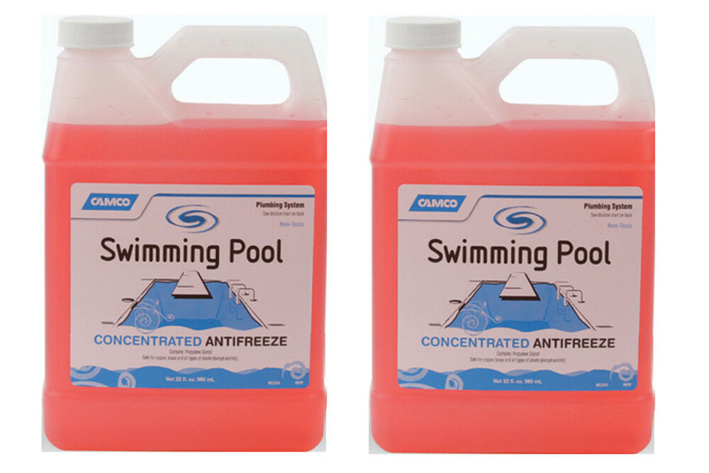 2 Pack Camco Non Toxic Concentrated Swimming Pool Winter Closing Anti Freeze Ebay