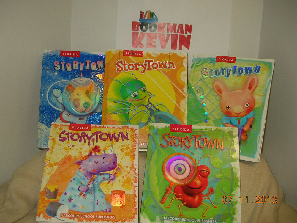 Harcourt Storytown Grade 1 / books 1-5 Student reading textbook ...