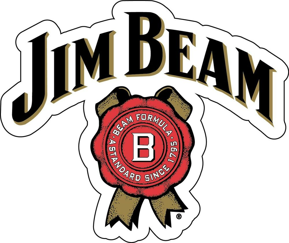 Jim Beam Sticker Decal Different Sizes Whiskey Bourbon