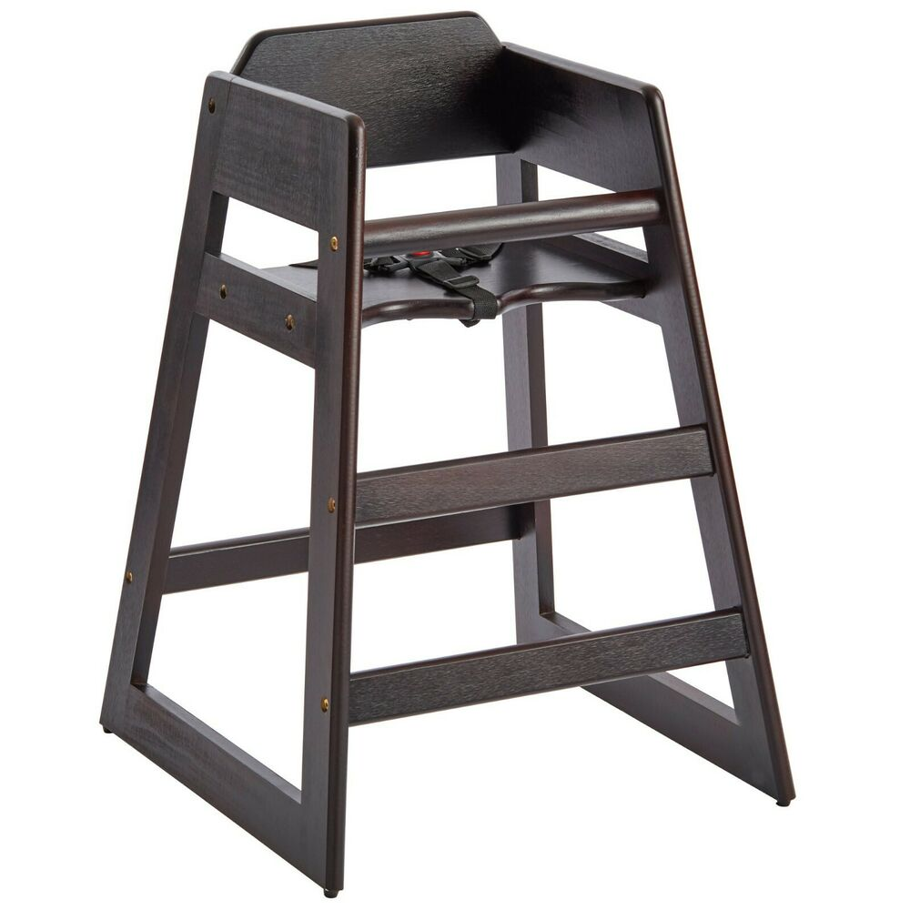 New Restaurant Style Wooden High Chair    Assembled