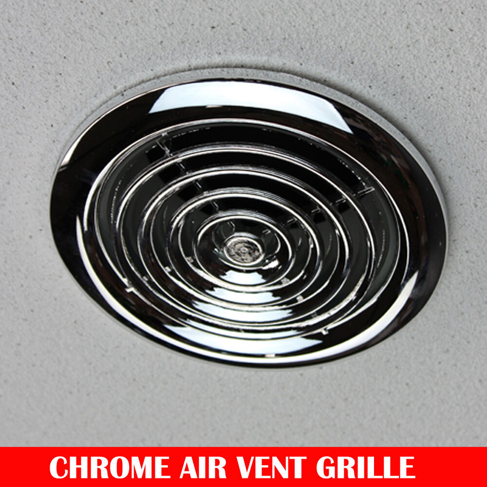 Chrome air vent ceiling grill outlet inlet heat recovery for 4 bathroom fan duct