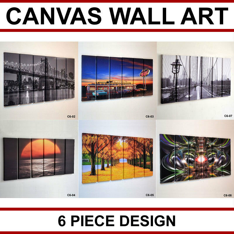 piece large canvas picture wall art multi split panel hanging