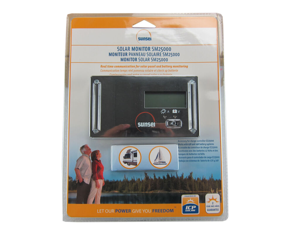 Icp Solar Sunsei Sm25000 Solar Monitor For Charge