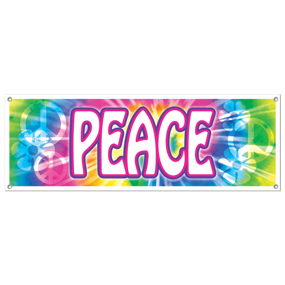 Groovy retro 60s party decoration hippie tie dye peace for 60s party decoration