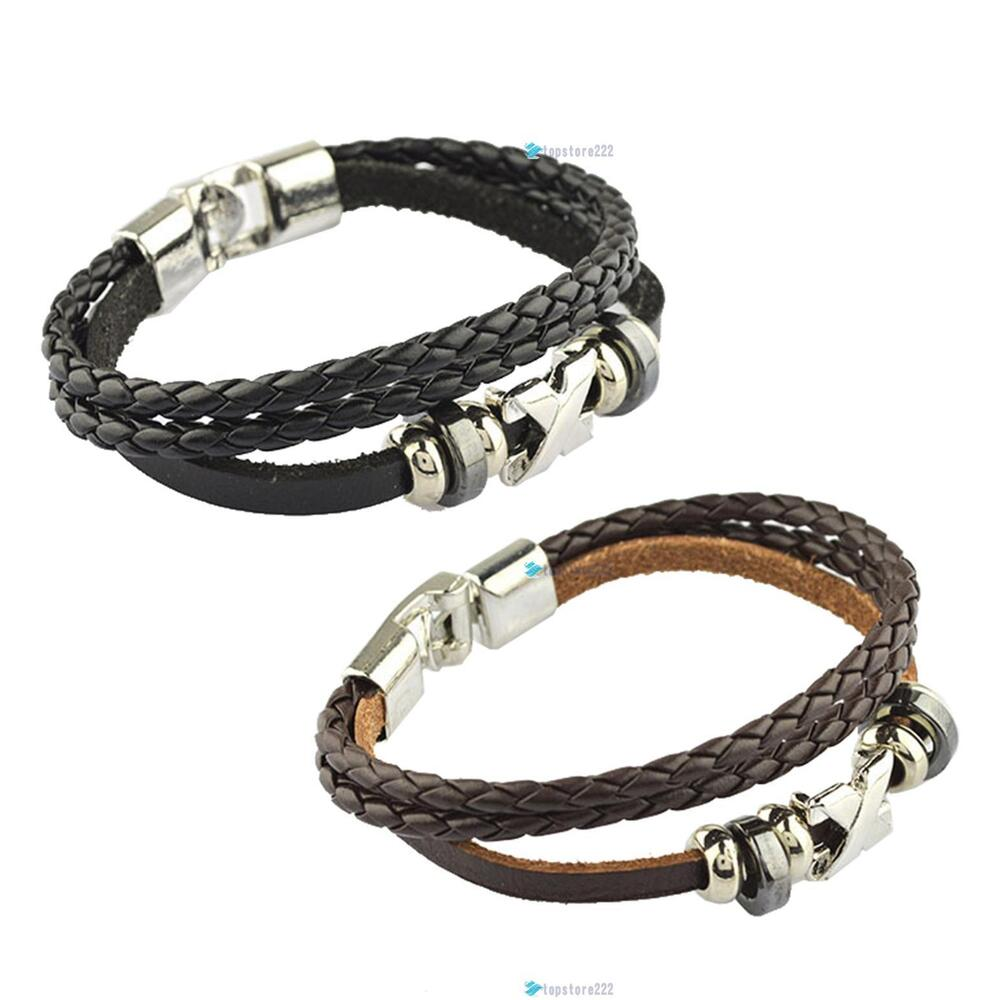 Fashion Korean Style Handmade Unisex Men's Wrap Wrist ...