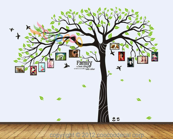 Wall Decal Sticker Removable Photo Frame Tree Family