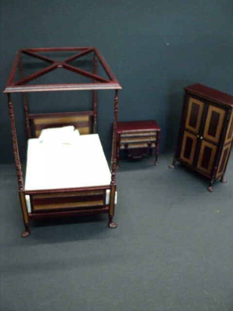 dollhouse bespaq ruskin bedroom set 3 pc with free dresser top
