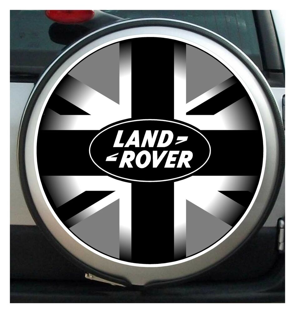 Landrover Discovery Side Stripe Decals Stickers Land Rover: 600 Mm BLACK GREY UNION JACK Land Rover SPARE WHEEL COVER