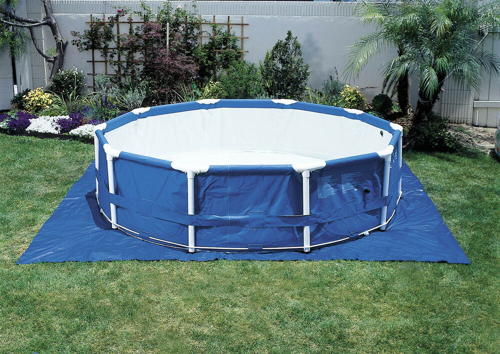 intex 15 1 2 39 ft square ground cloth for above ground swimming pools 58932e ebay. Black Bedroom Furniture Sets. Home Design Ideas