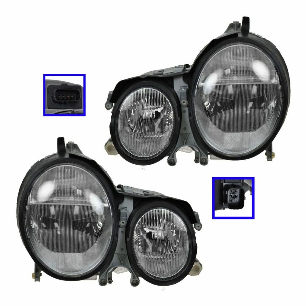 Xenon Headlight Headlamp Left amp Right Pair Set of 2 for MB
