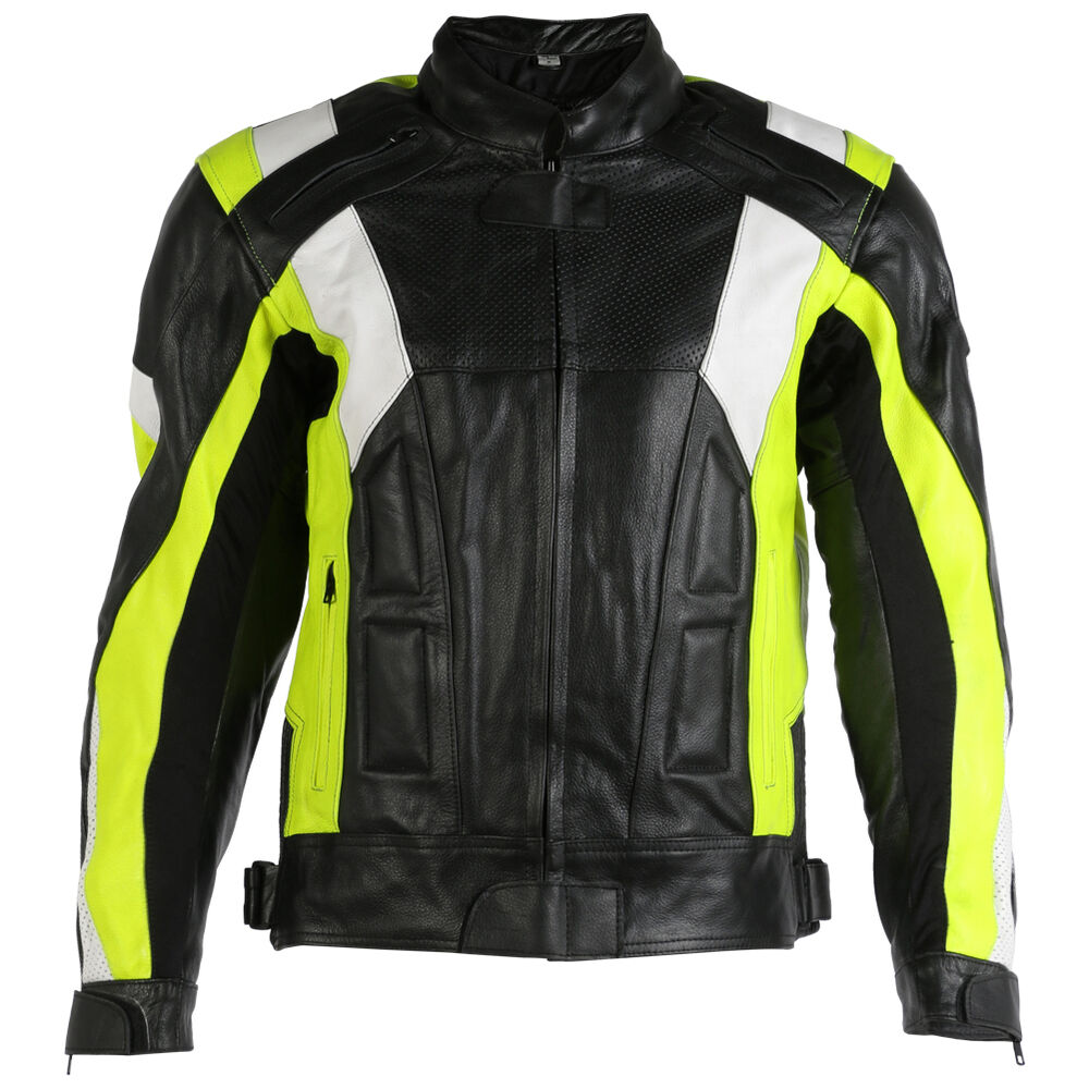 New Lumino Armoured Quality Leather Motorcycle Motorbike ...