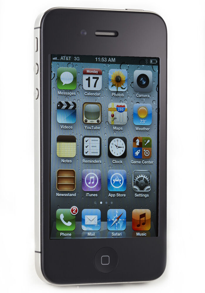 apple iphone 4s 32gb black at t smartphone mc919ll. Black Bedroom Furniture Sets. Home Design Ideas