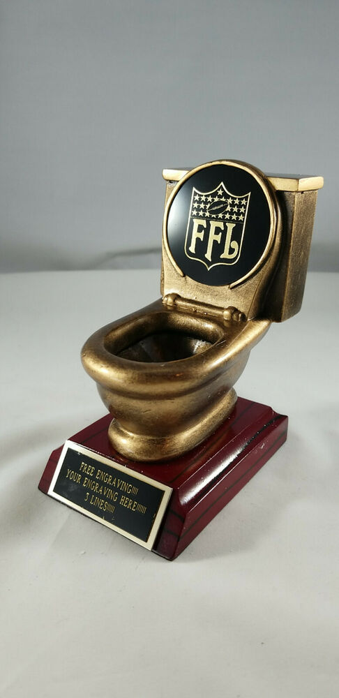 Fantasy Football Toilet Bowl Last Place Trophy Award Ebay