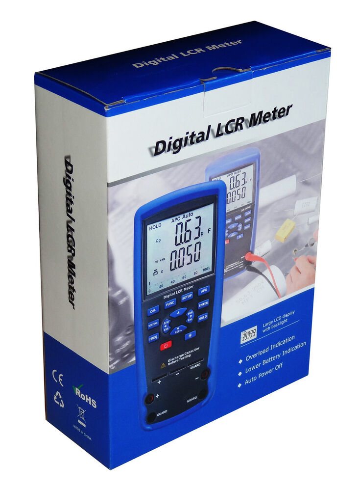 4 Wire Ohmmeter : Professional dt lcr meter kelvin wire ohm