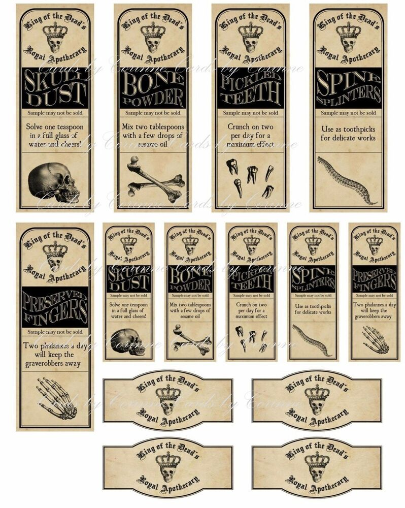 Epic image throughout free printable apothecary labels
