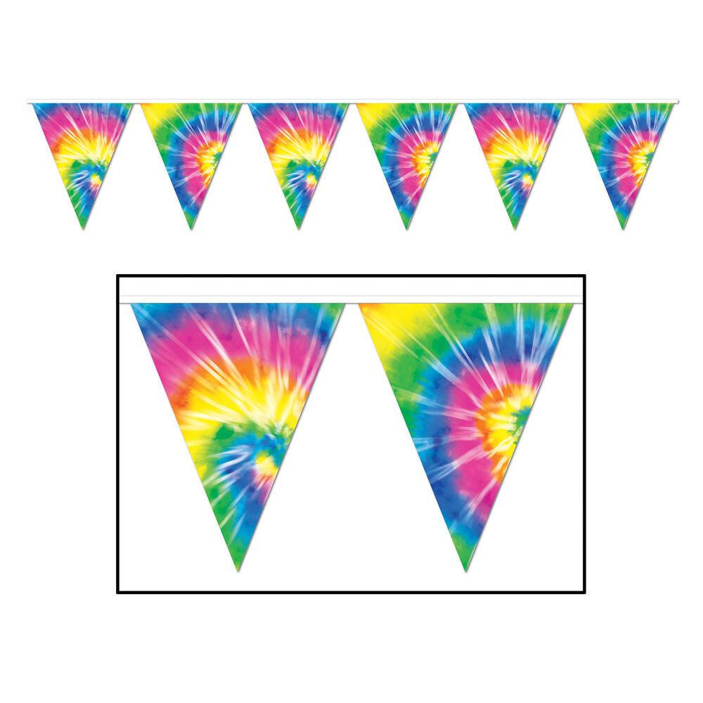 Groovy 60s Party Decoration Hippie Tie Dye Dyed Print
