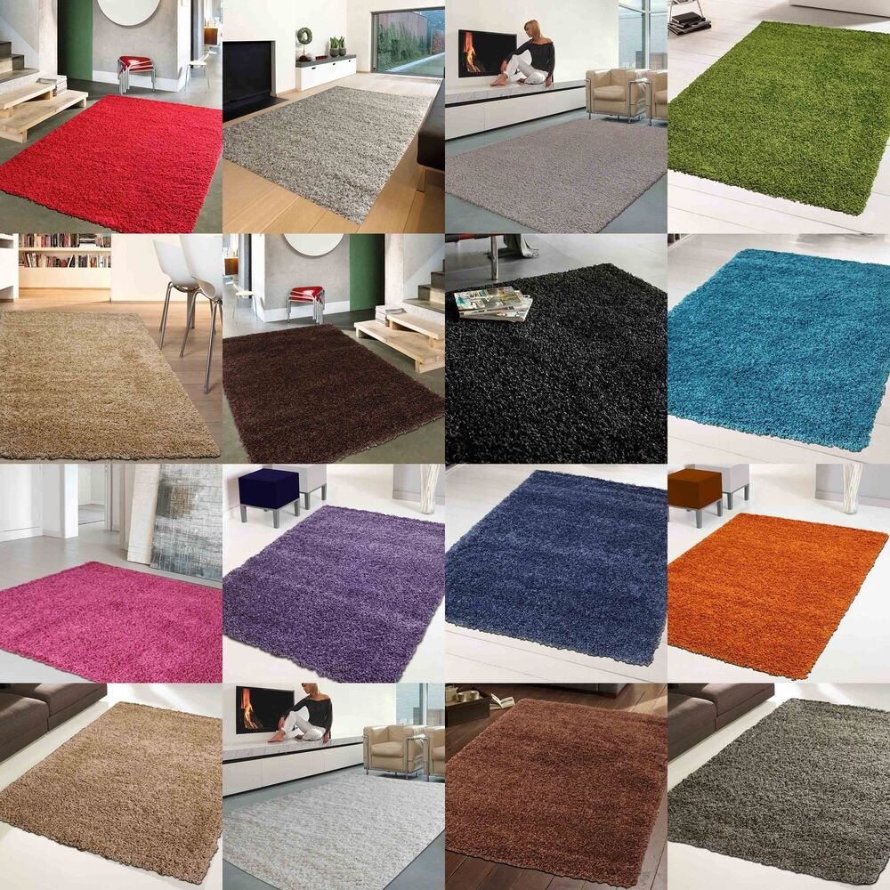 NEW THICK RICH SHAGGY RUGS LARGE SOFT RUG MATS RUNNER