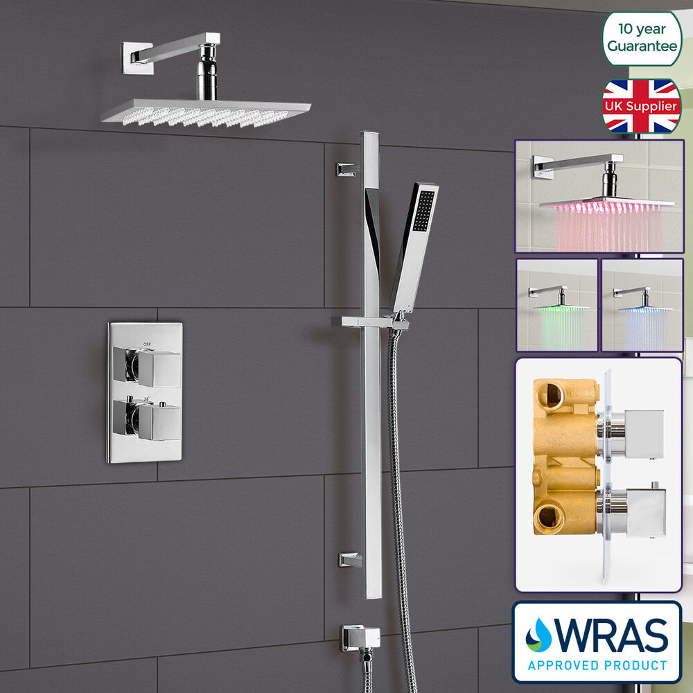 bathroom concealed thermostatic shower mixer hydro power. Black Bedroom Furniture Sets. Home Design Ideas