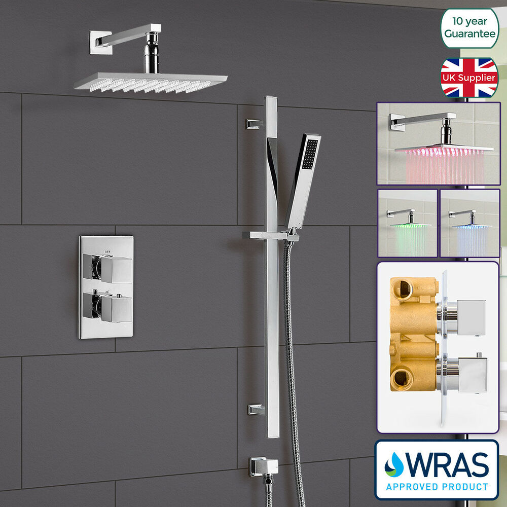 Bathroom Concealed Thermostatic Shower Mixer Hydro Power