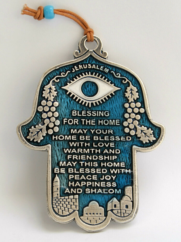 Hamsa Blessing For Home Wall Hanging Decor Amulet Luck