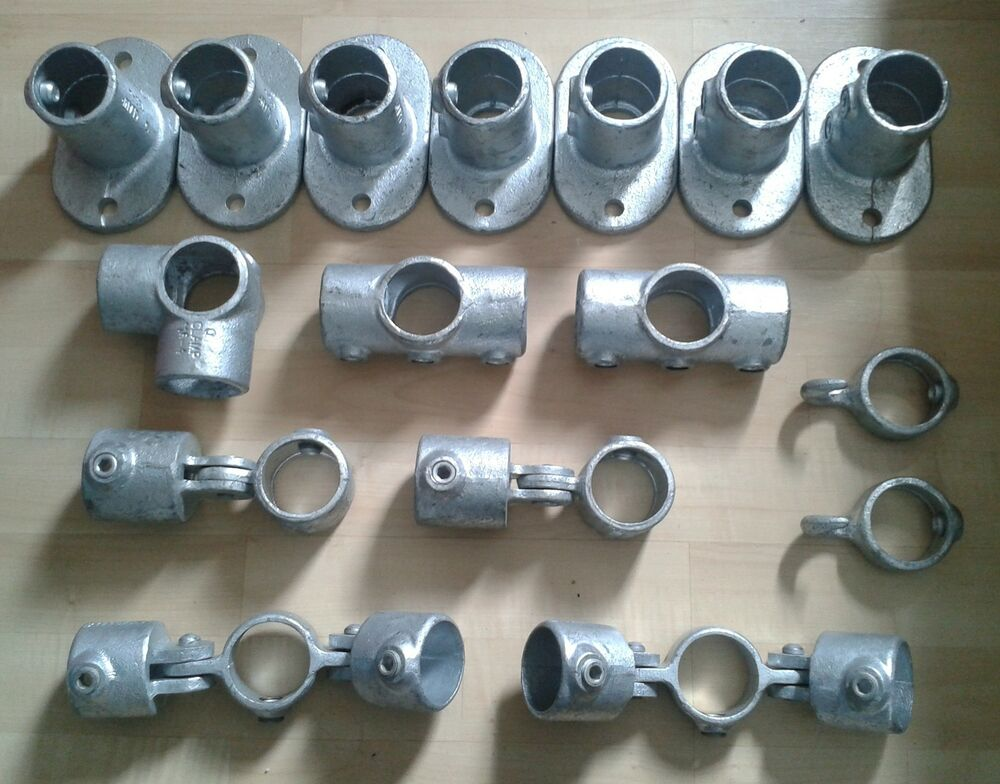 Job lot of mm pipe key clamp kee tube klamp scaffold
