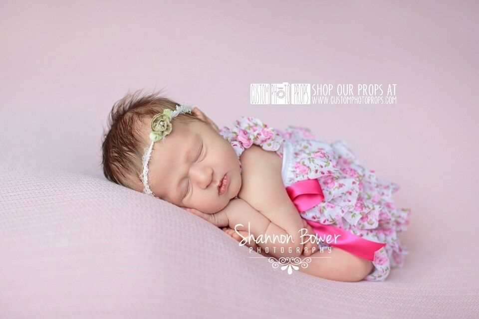 Pink floral romper photo prop newborn photo props photography props