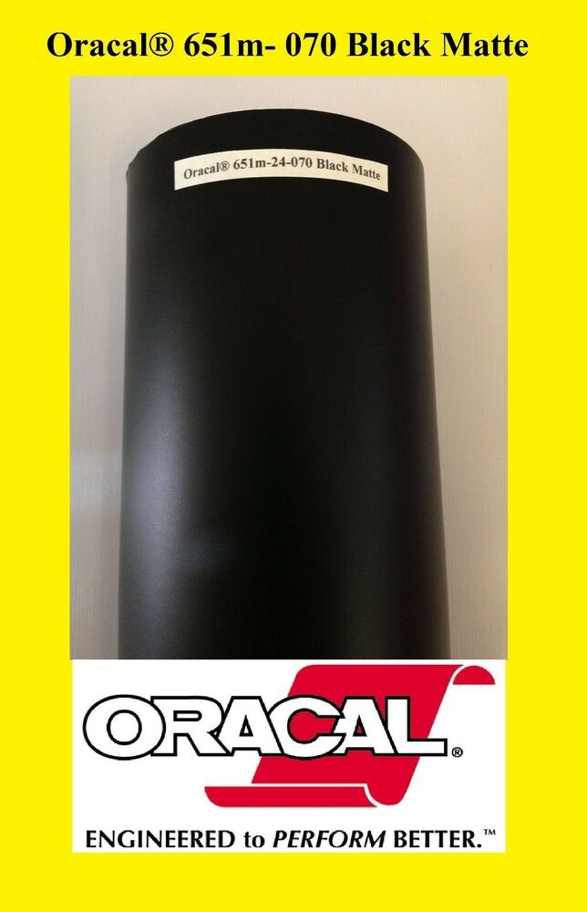 12 Quot X 10 Ft Roll Black Matte Oracal 651 Vinyl Adhesive
