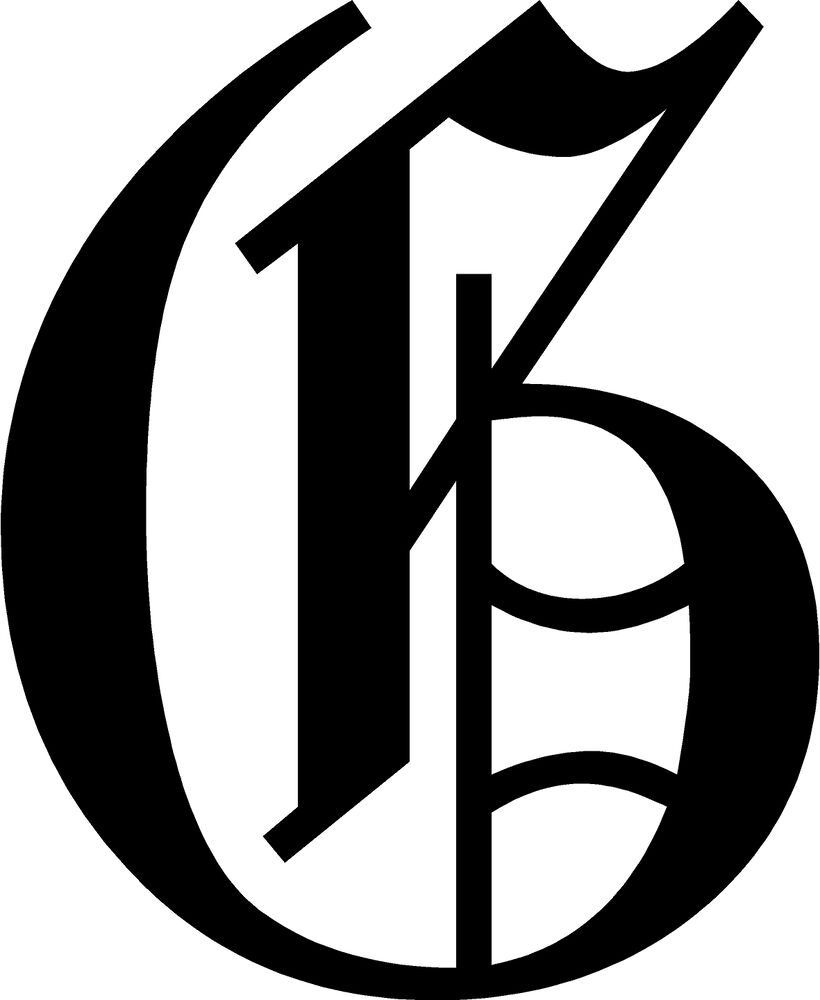 Old English Letter G Decal 14 U0026quot  Car Window Windshield