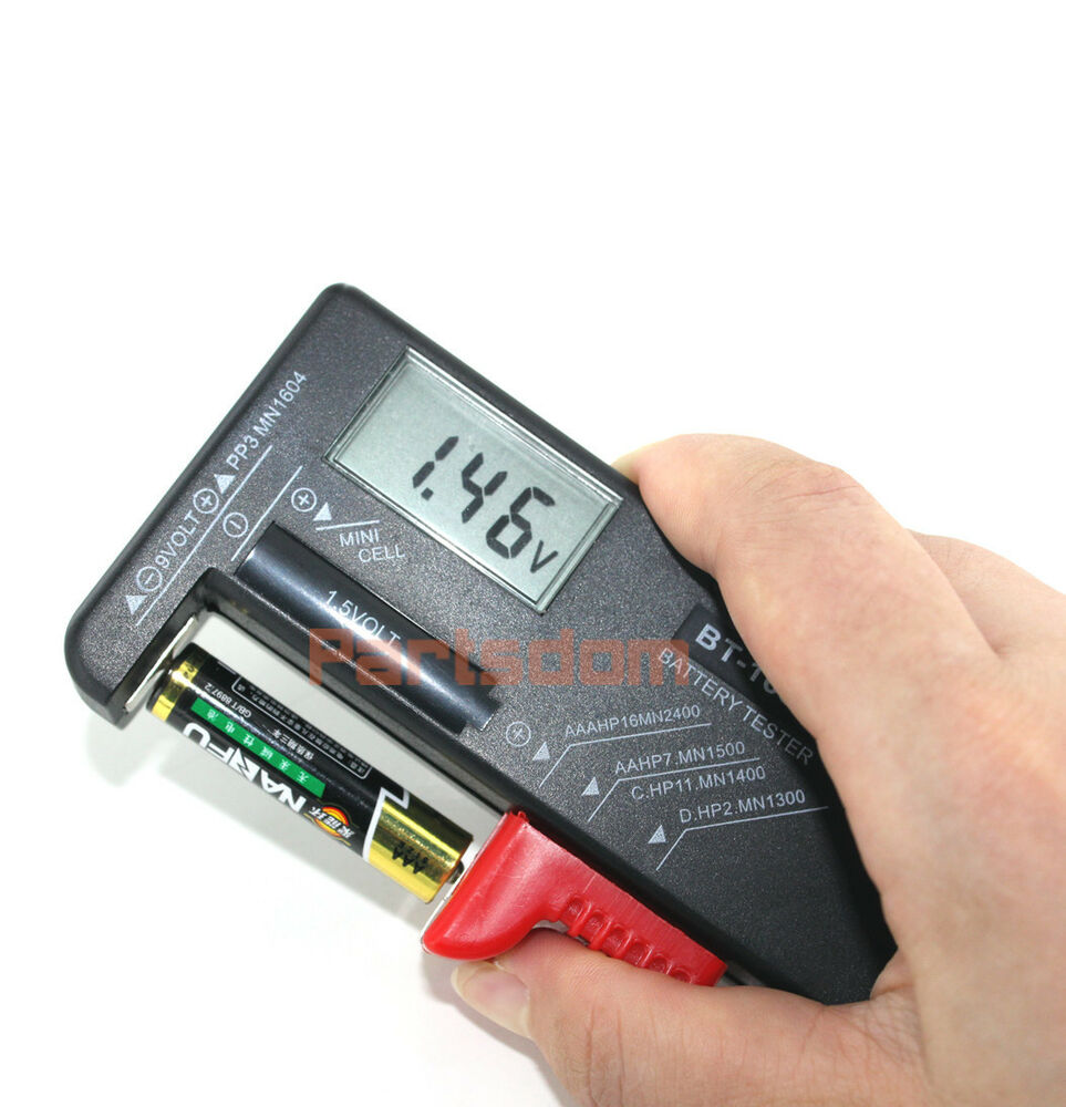 universal digital lcd battery checker volt tester cell aa. Black Bedroom Furniture Sets. Home Design Ideas