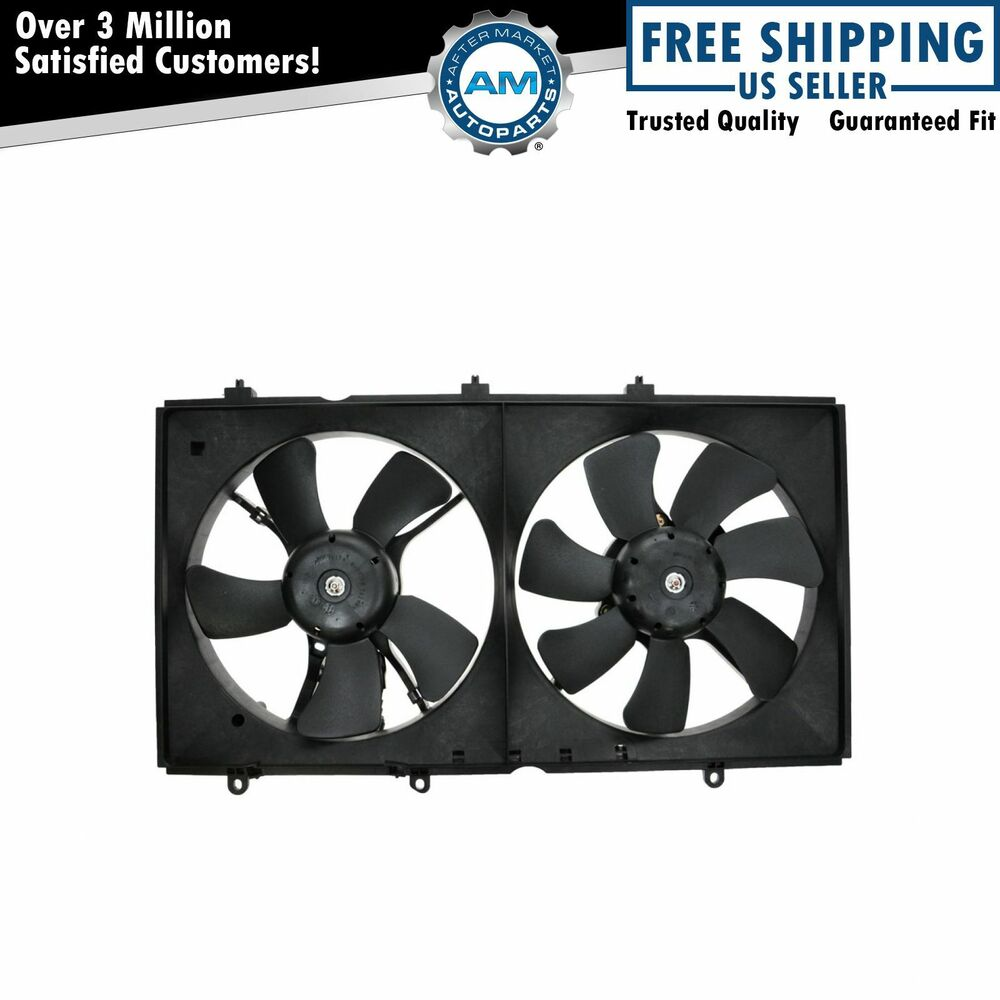Dual a c radiator cooling fan assembly w motor for 03 07 for Radiator fan motor price
